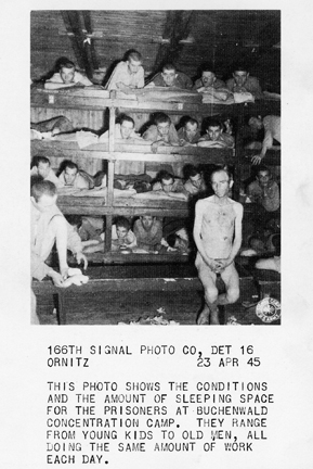 April 23, 1945 - Sleeping conditions for the prisoners at Buchenwald.
