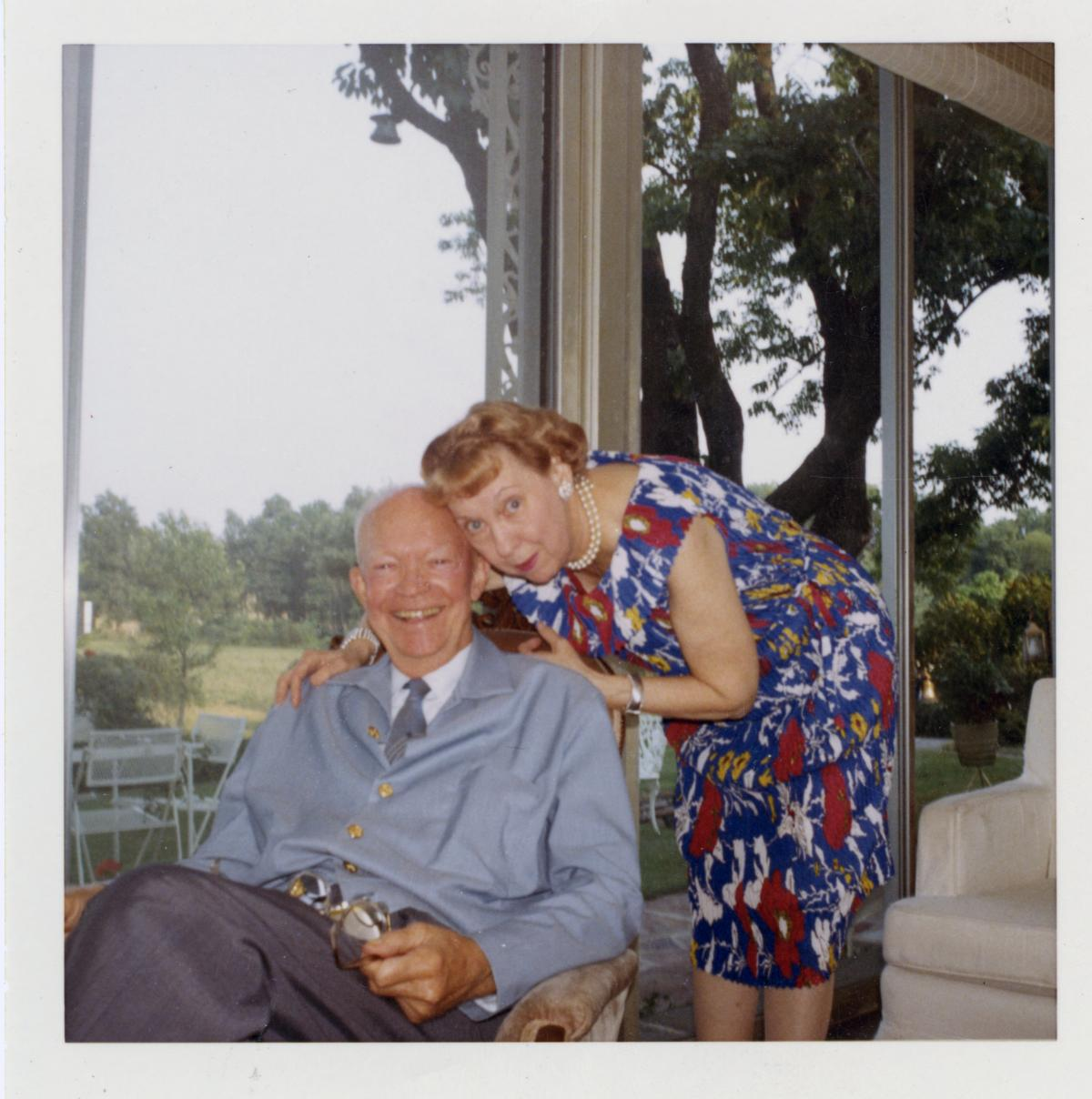 Ike and Mamie at their Gettysburg home.