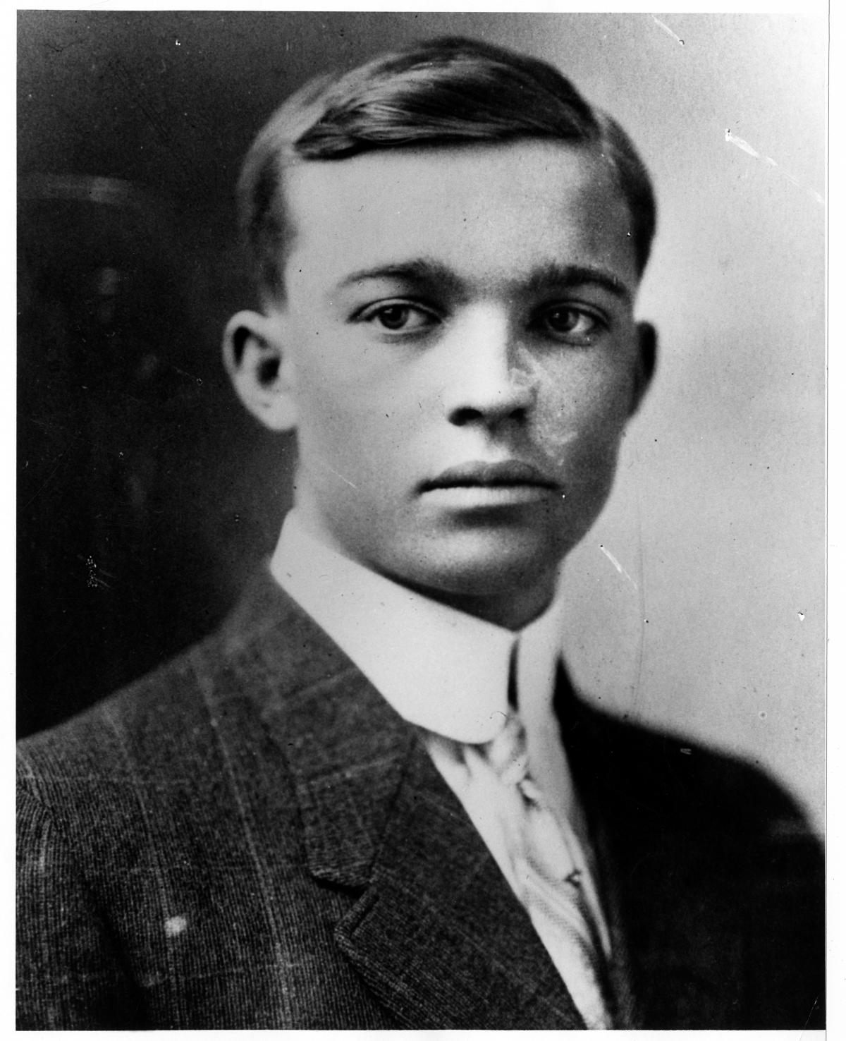 Dwight Eisenhower high school graduation portrait