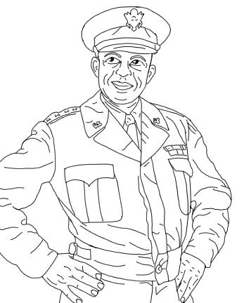 General Eisenhower coloring page image 63-92