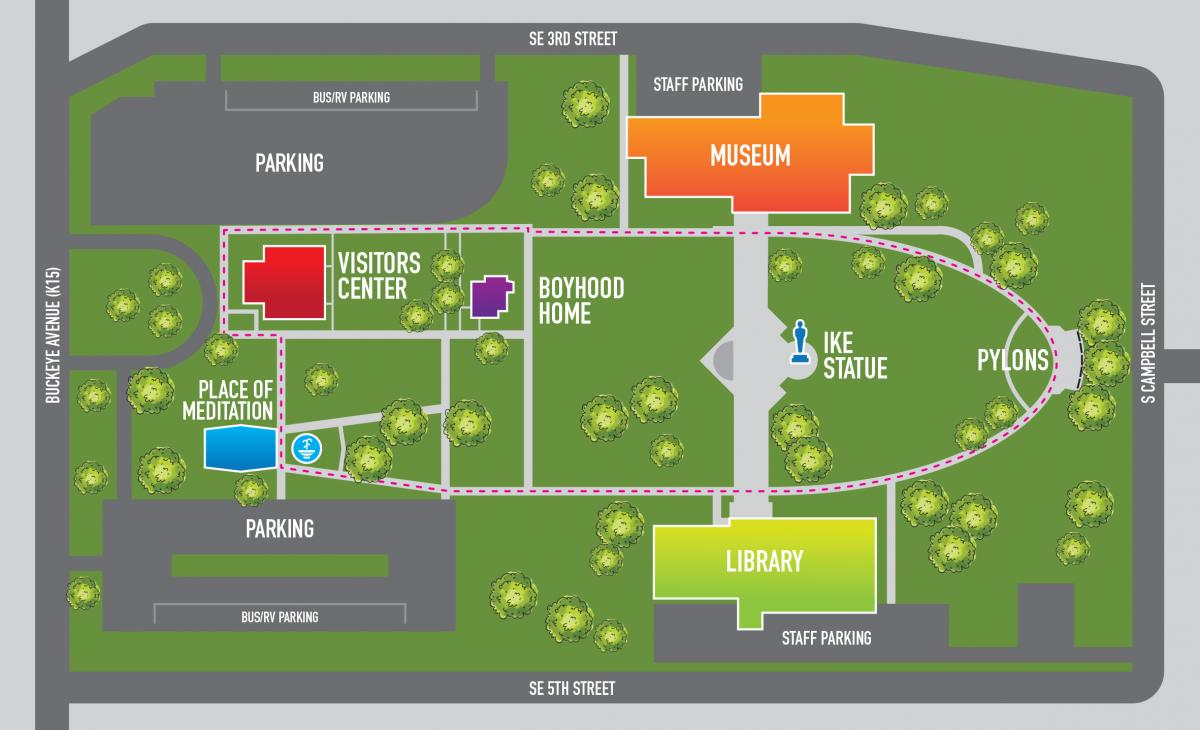 Eisenhower Library Campus Map