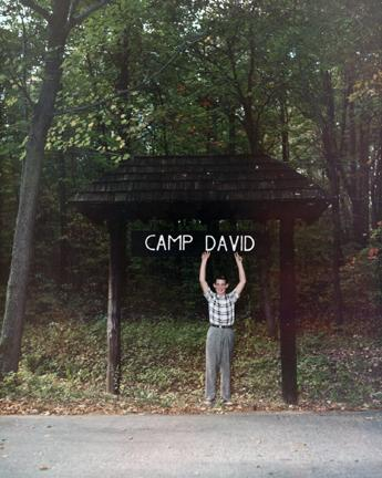 October 2, 1960 - David Eisenhower at the entrance to Camp David