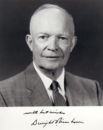 Autographed photo of Dwight D. Eisenhower, May 26, 1959