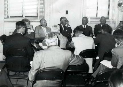 October 1954 - Committee meeting of the President's Advisory Committee on National Highway System (Clay Committee)