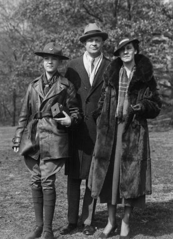 Dwight D. Eisenhower, Mamie, and their son John at Rock Creek Park in Washington, DC, 1933 [62-288-1]