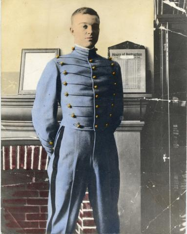 Hand-tinted picture of Dwight D. Eisenhower as a West Point cadet. 1911 [62-320]