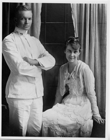 Dwight and Mamie Eisenhower on their wedding day, July 1, 1916.