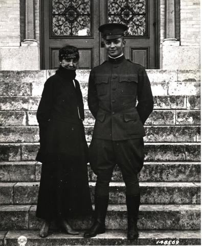 Lt. Dwight D. Eisenhower and his wife Mamie in San Antonio, Texas, 1916 [77-18-15-1]