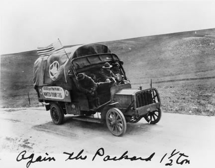 """Again the Packard 1 1/2 ton"" 1919 Transcontinental Motor Convoy."