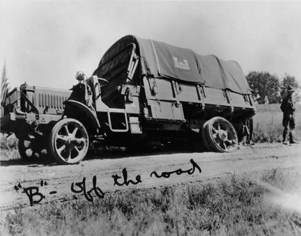 """'B' - off the road"" 1919 Transcontinental Motor Convoy."