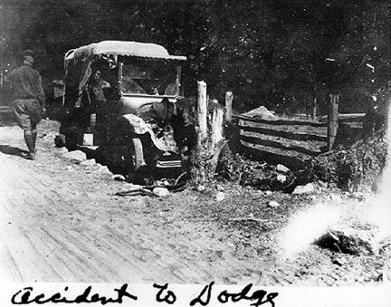 """Accident to Dodge"" 1919 Transcontinental Motor Convoy."