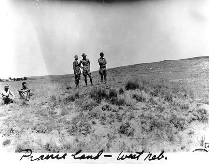 """Prairie land - West Nebraska"" 1919 Transcontinental Motor Convoy."
