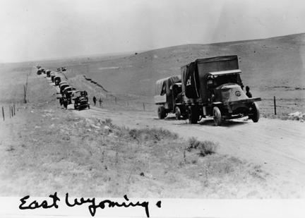"""East Wyoming"" 1919 Transcontinental Motor Convoy."