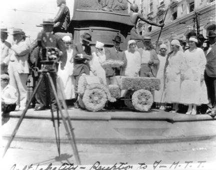 1919 Transcontinental Motor Convoy. Salt Lake City, Utah.