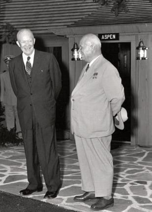 September 25, 1959 - Dwight D. Eisenhower and Nikita Khrushchev meet at Camp David