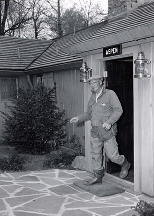 April 30, 1960 - Dwight D. Eisenhower visits Camp David for a fishing trip with George Allen
