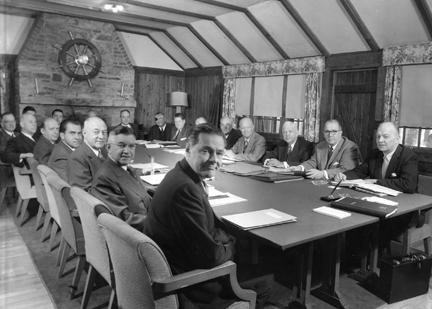 November 22, 1955 - Cabinet meeting held at Camp David
