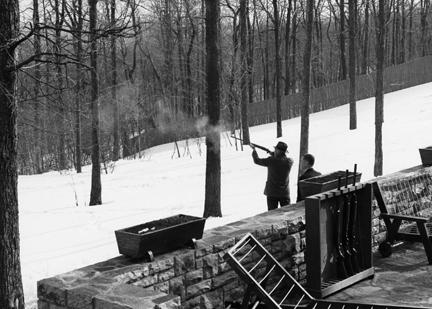 March 19, 1960 - Dwight D. Eisenhower skeet shooting