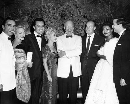 June 7, 1956 - Vic Damone, Jane Powell, Dwight D. Eisenhower, Bob Hope, Pearl Bailey, and others
