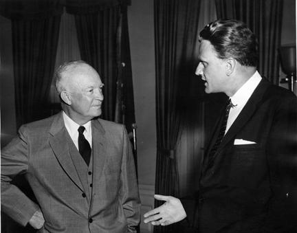 May 10, 1957 - Dwight D. Eisenhower with Rev. Billy Graham
