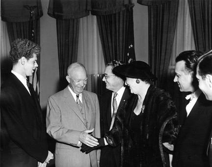 May 23, 1958 - Dwight D. Eisenhower with Harvey Lavan Cliburn and others