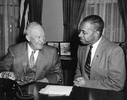 October 4, 1956 - Dwight D. Eisenhower meeting with E. Frederic Morrow