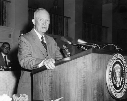 May 12, 1958 - Dwight D. Eisenhower gives a speech sponsored by the National Newspaper Publishers Association (NNPA - formerly known as National Negro Publishers Association)