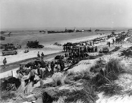 June 8, 1944 - U.S. troops set up command posts on Utah Beach