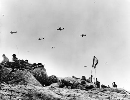 June 6, 1944 - Gliders bring in supplies to U.S. army troops fighting on Utah Beach