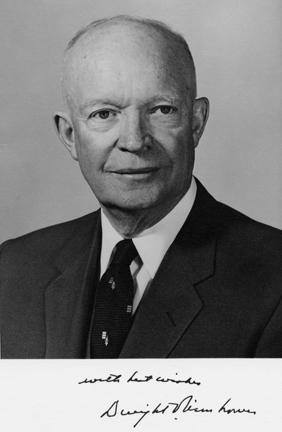 Autographed photo of Dwight D. Eisenhower, February 13, 1959