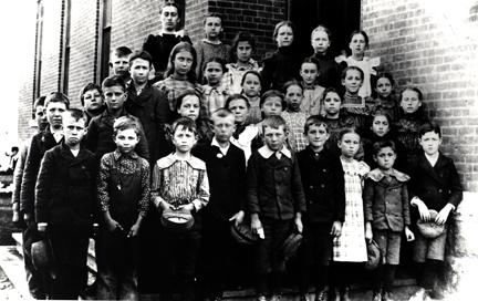 1900 - Class photo at Lincoln - School. DDE is in the front row, second from left