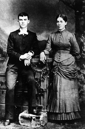 1885 - David and Ida Eisenhower wedding portrait