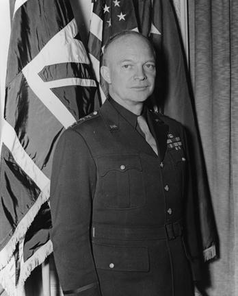 January 18, 1944 - Dwight D. Eisenhower at Supreme Headquarters, Allied Expeditionary Force (SHAEF).