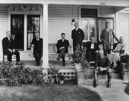 Eisenhower Family, Roy, Arthur, Earl, Edgar, David, Dwight, Milton, and Ida in 1926 [67-631]