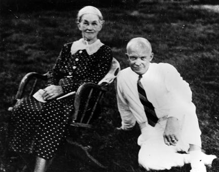 1938 - Dwight D. Eisenhower with his mother, Ida Eisenhower