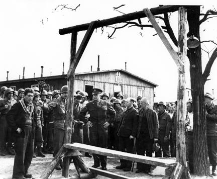 April 12, 1945 - Dwight D. Eisenhower views the gallows at Ohrdruf