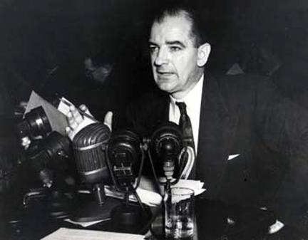 March 14, 1950 - Senator Joseph R. McCarthy testifying before the Senate Foreign Relations Committee.