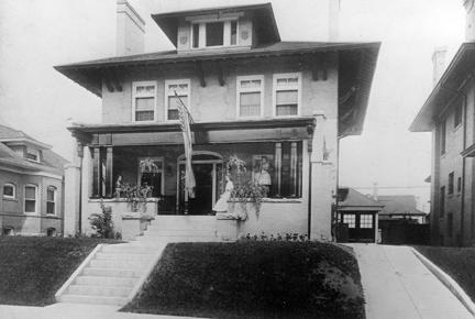 c. 1911 - Doud family home in Denver, Colorado