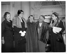 Mamie Eisenhower receives officers of the National Council of Negro Women. November 12, 1953 [72-556-1]
