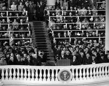 January 21, 1957 - Dwight D. Eisenhower delivering his inaugural address [72-2063-8]
