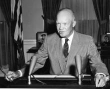 September 24, 1957 - Dwight D. Eisenhower has a special broadcast on the Little Rock situation [72-2433-7]