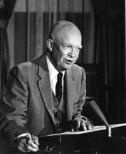 September 24, 1957 - Dwight D. Eisenhower has a special broadcast on the Little Rock situation [72-2433-8]